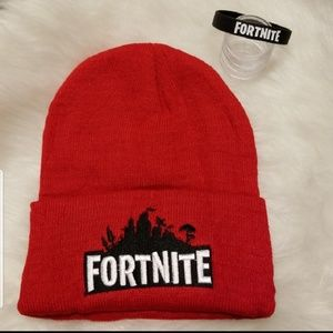 Other - Fortnite RED embroidered beanie